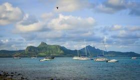 Seascape Le Morne przy latem w Mauritius Fotografia Royalty Free