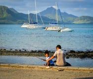 Seascape Le Morne przy latem w Mauritius Zdjęcie Royalty Free