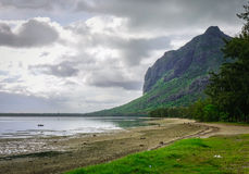 Seascape of Le Morne at summer in Mauritius. Seascape of Le Morne Brabant in Mauritius. Mauritius, an Indian Ocean island nation, is known for its beaches Royalty Free Stock Photo