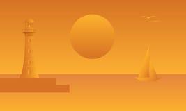 Seascape. vector illustration