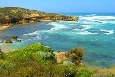 Seascape litoral do verão foto de stock royalty free