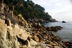 Seascape in Lloret de Mar (Girona) 12 Royalty Free Stock Image