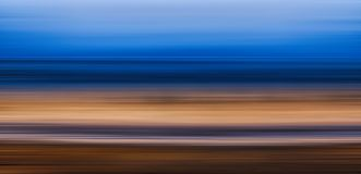 Seascape motion blur effect. Seascape long exposure motion blur effect royalty free stock photography