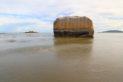 Seascape with long exposure on the rocks.solf focus Stock Photography