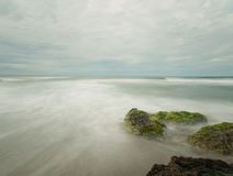Seascape long exposure. Seascape of the south china sea view from San Juan in the Philippines Stock Images