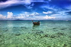 Seascape. A long tail boat/ Royalty Free Stock Image