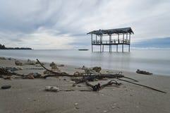 Seascape longo da exposição Foto de Stock Royalty Free