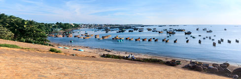 Seascape with a lot of boat Stock Images