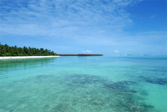 Seascape of maldives Royalty Free Stock Images