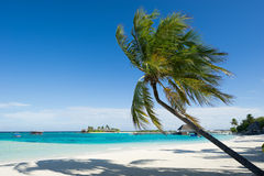Seascape of maldives island resort Royalty Free Stock Photography