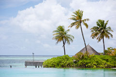 Seascape of maldives resort Royalty Free Stock Images