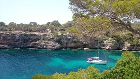 Seascape Mallorca. Beautiful seascape in Cala Pi Mallorca Stock Photo