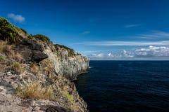 Seascape med klippan i terceria royaltyfri fotografi
