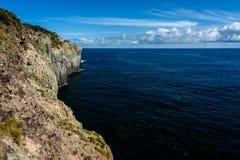Seascape med klippan i terceria fotografering för bildbyråer