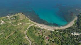Seascape med stranden och havet Filippinerna Luzon Fotografering för Bildbyråer