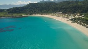 Seascape med stranden och havet Filippinerna Luzon Arkivbilder
