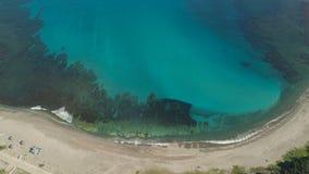 Seascape med stranden och havet Filippinerna Luzon Arkivfoto