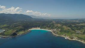 Seascape med stranden och havet Filippinerna Luzon Royaltyfria Foton