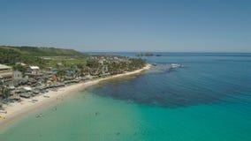 Seascape med stranden och havet Filippinerna Luzon Royaltyfri Bild