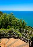 Seascape mediterrâneo típico, costa de Amalfi, Itália Imagem de Stock Royalty Free