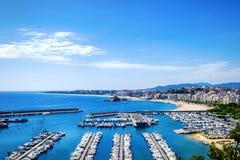 Seascape . Mediterranean coast of Blanes, Costa Brava , Spain Stock Photos