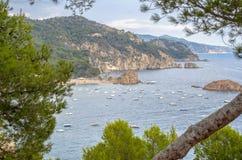 Seascape . Mediterranean coast of Spain, Costa Brava. Stock Photography