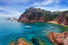 Seascape . Mediterranean coast of Spain Stock Photo