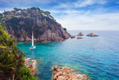 Seascape . Mediterranean coast of Spain. Costa Brava Royalty Free Stock Photography