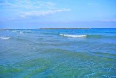 Seascape. Mediterranean Sea. The beach of Tel Aviv. Israel Royalty Free Stock Photos