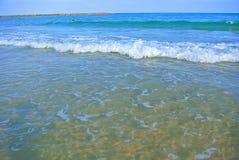 Seascape. Mediterranean Sea. The beach of Tel Aviv. Israel Royalty Free Stock Photography