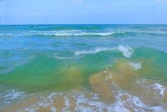 Seascape. Mediterranean Sea. The beach of Tel Aviv. Israel Royalty Free Stock Images