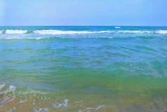 Seascape. Mediterranean Sea. The beach of Tel Aviv. Israel Stock Images