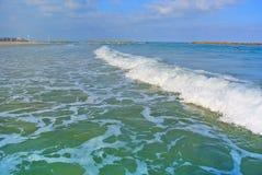 Seascape. Mediterranean Sea. The beach of Tel Aviv. Israel Stock Photography