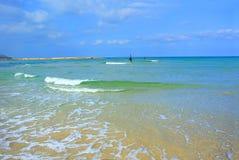 Seascape. Mediterranean Sea. The beach of Tel Aviv. Israel Stock Image