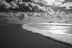 Seascape of Mira beach, Portugal stock photography