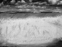 Seascape in monotone Stock Image