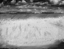 Seascape in monotone Stock Image