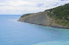 Seascape Montanha Exploração agrícola Durso Foto de Stock Royalty Free