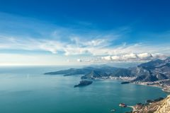 Seascape Montenegro. Mountains And Islands. Royalty Free Stock Image