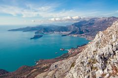 Seascape Montenegro. Mountains and islands. Stock Image