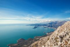Seascape Montenegro. Mountains and islands. Royalty Free Stock Photos