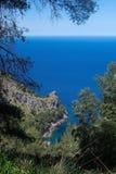 Seascape mountain view Mallorca Stock Image