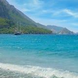 Seascape and  mountainous coast Royalty Free Stock Images