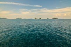 Seascape nära Samui Thailand Royaltyfri Fotografi
