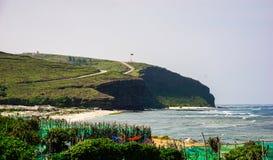 Seascape na ilha do filho da LY, Quang Ngai, Vietname Fotos de Stock Royalty Free
