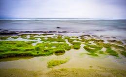 Seascape na ilha do filho da LY, Quang Ngai, Vietname Imagens de Stock