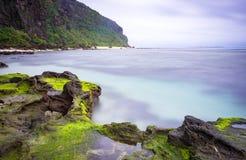Seascape na ilha do filho da LY, Quang Ngai, Vietname Fotos de Stock