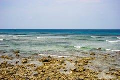 Seascape na ilha do filho da LY, Quang Ngai, Vietname Imagens de Stock Royalty Free