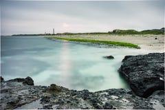 Seascape na ilha do filho da LY, Quang Ngai, Vietname Foto de Stock