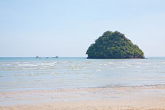 Seascape na praia Imagem de Stock